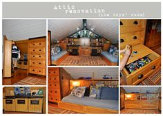 Best attic remodel ever!  You have to see all of the photos.  A secret door!  You'd never know anyone lives up there.
