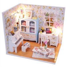 Barato Crianças Brinquedos Casa de Boneca Móveis Casa de Bonecas De Madeira…