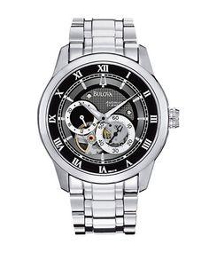 Bijoux et accessoires | Montres homme | BULOVA Men's Mechanical Stainless Steel Watch | La Baie D'Hudson