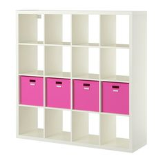"""KALLAX / TJENA Shelf unit with 4 inserts IKEA - this could be a great start to my """"new"""" room"""