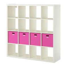 KALLAX / TJENA Open kast met 4 inzetten IKEA