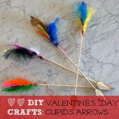 Craft Corner: Valentine's Day Arrows Cute Valentine Ideas, Valentines Design, Valentines Day Party, Valentines For Kids, Valentine Day Crafts, Arrow Crafts, Craft Corner, Valentine's Day Diy, Creations
