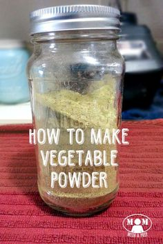What can you do with those leftover bits of vegetables sitting in your fridge? Or what about that little bit of dehydrated vegetable at bottom of your mason jar? You don't want to throw out all that goodness...but what can you do with it? Why...make vegetable powder, of course! I will show you just how it easy it is on Mom with a PREP!