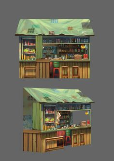 Installation art design for Penang Amazing World Environment Concept Art, Environment Design, Japon Tokyo, Cartoon House, Modelos 3d, 3d Home, Game Concept Art, Prop Design, Kawaii Art