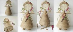 angelitos Straw Bag, Burlap, Projects To Try, Reusable Tote Bags, Embroidery, Collage, Molde, Paper, Jute Flowers