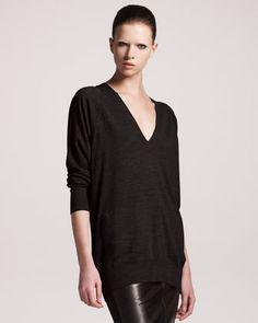 Alexander Wang Oversized Merino Wool Sweater - Neiman Marcus