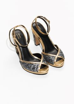 & Other Stories image 2 of Rodarte Sequin Sandals in Silver