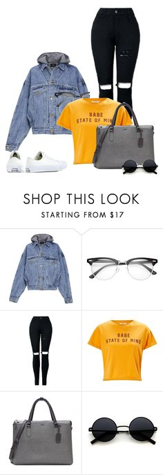 """""""Babe state of mind"""" by kingsamuel ❤ liked on Polyvore featuring Fear of God, Miss Selfridge, Tumi and Converse"""