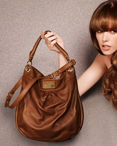 (THE best bag) MARC by Marc Jacobs Dr. Q Hillier Hobo in Saddle Leather