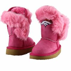 Cuce Denver Broncos Toddler Girls Mini-Me Fanatic Boots - Pink