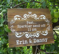 cute way to encourage guests to stick around for the send off.