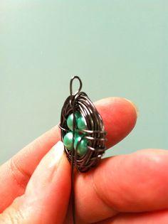 20 minute crafter-wire bird nest pendants!