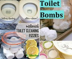 Toilet bombs natural toilet cleaning fizzies