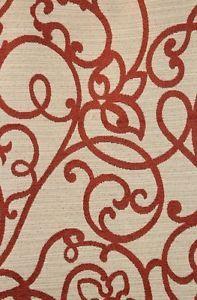 "56"" Wide Precious Burnt Orange  Chenille upholstery Drapery Sofa Fabric per yard"