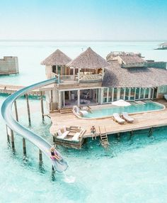 Water Villa with Slide in the Maldives Wasservilla mit Rutsche auf den Malediven Vacation Places, Vacation Destinations, Dream Vacations, Places To Travel, Holiday Destinations, Dream Vacation Spots, Holiday Places, Mexico Vacation, Amazing Destinations