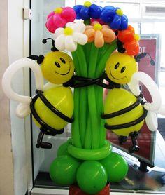 Creative figures from balloons Love Balloon, Balloon Flowers, Balloon Bouquet, Balloon Garland, Balloon Tree, Balloons Galore, Balloon Crafts, Bee Party, Balloon Centerpieces