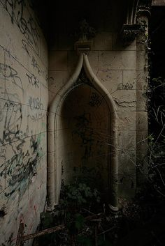 as found in the abandoned chateau de la solitude, near Paris, France (by Mobilohm's photostream)