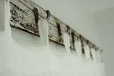 Reclaimed wood for hanging curtains!  website wouldn't post :(...