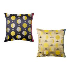 GLÖDANDE Cushion cover IKEA The zipper makes the cover easy to remove. Walter Van Beirendonck, Extra Bedroom, Pottery Barn Teen, Crate And Barrel, Decoration, Yellow, Blue, Cushions, Throw Pillows