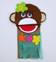 Luau Crafts for Kids! Make a Hula Monkey Puppet!