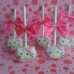 Cake pops Hello Kitty