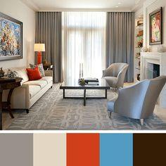 cores neutras para sala