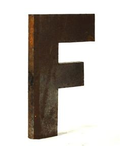 Industrial Rustic Metal Large Letter F 36H