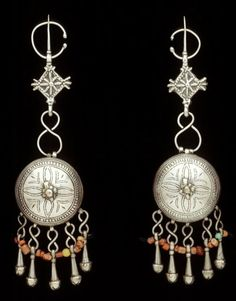 Morocco | Fibula; silver, coral, and other beads. | African Museum (Belgium) Collection; acquired 1980