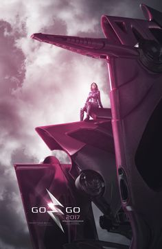 2017 MMPR movie Pink Ranger on Pterodactyl Zord Teaser Poster