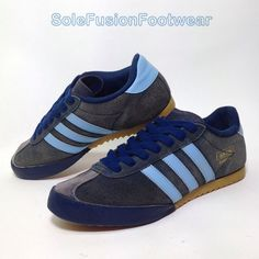 f8a77e566d adidas Originals Mens Bamba Trainers Blue Size 8 Vtg Retro SNEAKERS US 8.5  EU 42 for sale online | eBay