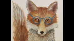 Mr. Fox with Glasses Acrylic Painting Tutorial | How to Paint Woodland A...