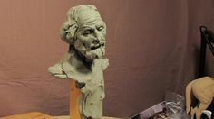 Sculpting With Lemon - Sculpture Depot and Chavant Clay - A Face Appears...