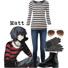 """Matt from Death Note"" by character-inspired on Polyvore"