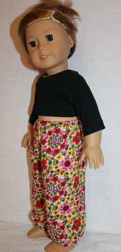 18 inch doll clothes floral Harem dance by magoogesmusedesigns