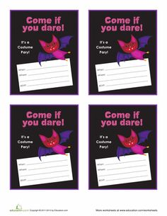 Worksheets: Halloween Party Flyer #6
