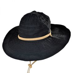San Diego Hat Company Ribbon Floppy Sun Hat w/ Chincord
