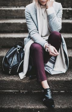 Merlot Ankle Trousers by Happily Grey