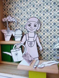 Julie+je+květinářka+-+omalovánka,vystřihovánka+omalovánka+velikost+A4,+tisk+na+kvalitním+kartonu