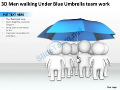 Download christian powerpoint template jesus walking on water 3d men walking under blue umbrella team work ppt graphic icon powerpoint templates toneelgroepblik Images