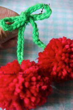 homemade@myplace: Make it ! Cheer up with pom pom cherries !!!