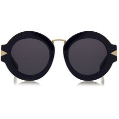 9d2b6017b3e Karen Walker Maze Navy and Gold Oversized Round Sunglasses ( 115) ❤ liked  on Polyvore