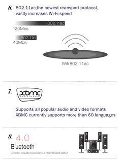 MXIII 4K Quad Core Android 4.4.2 Google TV Player w/ 2GB RAM, 8GB ROM, TF, Wi-Fi, HDMI - Black - Free Shipping - DealExtreme