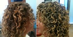 Corkscrew before/after. MyDevaCurl - Curly Lifestyle - Curly Hair Gallery. www.mydevacurl.com