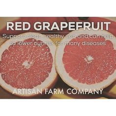 Backyard Benefits Series XVII: #Grapefruit supports #clear #healthy #skin. Let Artisan Farm Company help you. Sign up for our email list, or give us a buzz. www.artisanfarmcompany.com :ghost: ArtisanFarmCo -------------------------------------- :thumbsup: