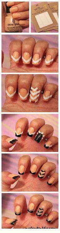 pretty chevron nails... http://www.popularimg.com/pic-2159.html