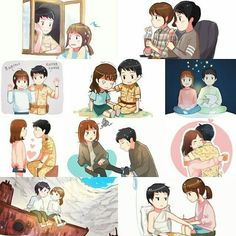 """Descendants of the Sun"" Fanart Korean Drama Funny, Korean Drama Quotes, Korean Drama Movies, Goblin, Songsong Couple, Cute Couple Art, Descendants Of The Sun Wallpaper, Decendants Of The Sun, Song Joon Ki"