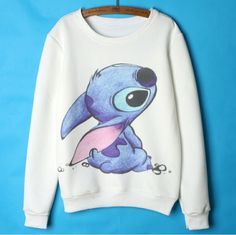 Cheap lilo and stitch hoodie, Buy Quality stitch hoodie directly from China women hoodies Suppliers: Lilo and stitch Hoodies Women Cute Cartoon Sweatshirts Womens Hoodies Pullover White Femme 2015 Autumn Winter clothing Stitch Sweatshirt, Graphic Sweatshirt, Hoodie Sweatshirts, Lilo Und Stitch, Cute Stitch, Tokyo Street Fashion, Cheap Hoodies, Disney Outfits, Disney Clothes