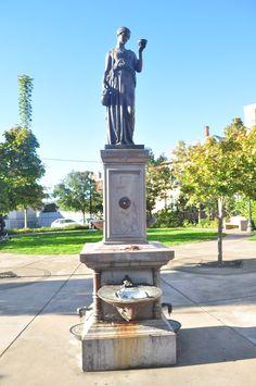 Hebe Fountain Woman's Christian Temperance Union Fountain. Oregon Eagles Park, Lane & Jackson Streets, Roseburg