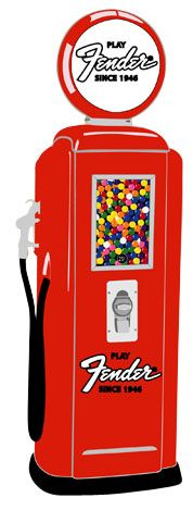 Tokheim 39 Red Fender Gas Pump Gumball Machines | Gas Pump Vending Machine