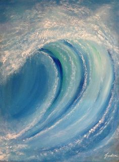 Original Seascape Painting by Molly Indra Ocean Wave Painting, Wave Art, Acrylic Pouring Art, Acrylic Art, Summer Waves, Foto Art, Surf Art, Pour Painting, Beach Art